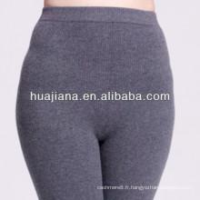 soulever la hanche sans couture 100% cachemire tricoter legging des femmes