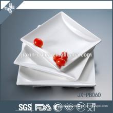 square white porcelain dinner pate, pizza plate, porcelain deep plate