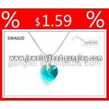 Crystal Ювелирные ожерелья ювелирных изделий формы сердца