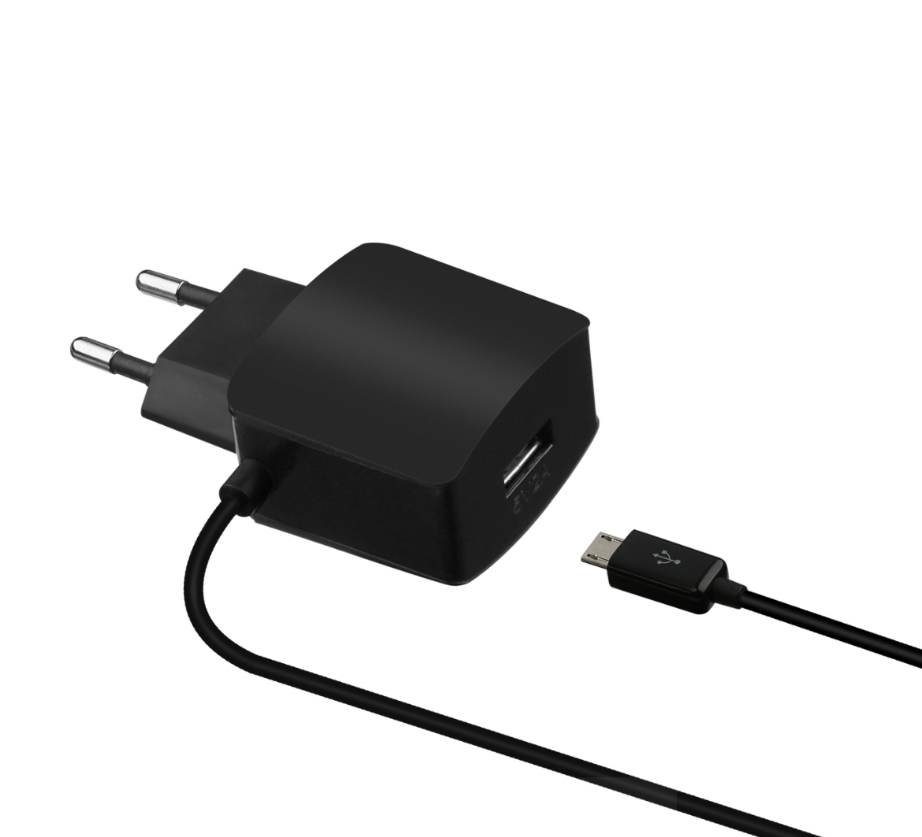 Home Charger with Hardwired Micro-USB cable