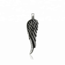 33464 xuping Simple design fashion Stainless Steel jewelry black gun color cool wing shape pendant