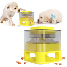 The store's new pet press feeder leaks food and interesting dog toys