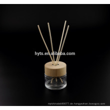 130ml Runde Form Reed Diffusor Glasflasche mit Holzkappe