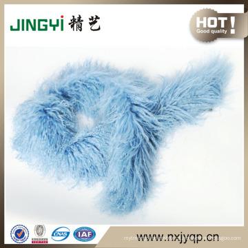 Venda quente cachimbo de pele de carneiro cacheado de pele de carneiro tibetano