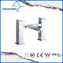 Top-Mount Two Holes Chromed Dual Handle Brass Bathtub Faucet (AF6028-2A)