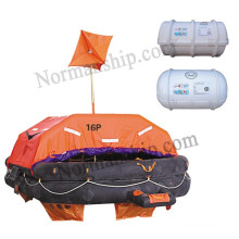 throwing inflatable liferaft Type A liferaft Solas 16person liferaft  with cheap price CCS/EC/GL/ZY