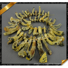 Бусины золота Druzy, Полумесяца Агат Свободные шарики, Ювелирные изделия шариков Druzy оптом (YAD019)