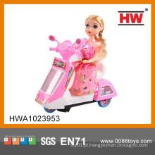 Crianças BO plástico 3D Toy mini moto com música e luz (bateria não incluída)
