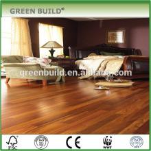 South American teak hardwood flooring apartment project