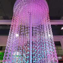 Customized restaurant hotel lobby luxury big glass beaded ceiling led chandelier light