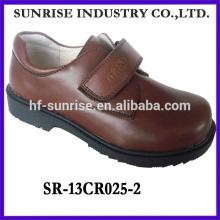 SR-13CR025-2 2014 new modle PU students shoes boys shcool shoes without laceboys flat brown student shoes