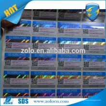Etiqueta customizada de holograma 3d com recursos de segurança