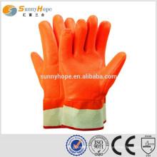 Sunnyhope winter fluoreszierende pvc schwere gummihandschuhe