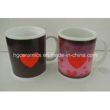 Teil-Farben-Änderungs-Becher Sublimation-Becher Großverkauf, keramische Hitze-empfindliche Kaffeetassen
