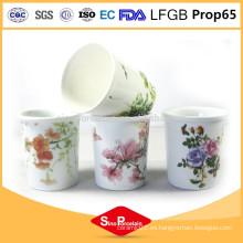 Sujetador de vela de cerámica blanco barato de los sostenedores de vela de la manera del precio