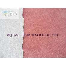 Polyester Suede With Sponge Bonded Fabric for cushion