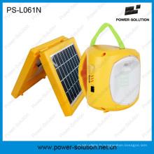 Lanterne solaire de la solution de puissance 4500mAh / 6V avec le chargeur de téléphone pour le camping ou l'éclairage de secours