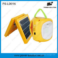 Lanterna de emergência solar portátil 2W com carregador de telefone 5-em-1