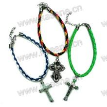 ]Cord Bracelet with Plastic Luminous Cross