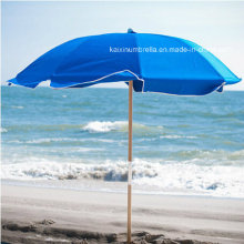 Parasol de plage en bois de poteau extérieur