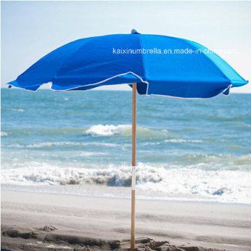 Деревянный полюс Открытый пляжный зонтик