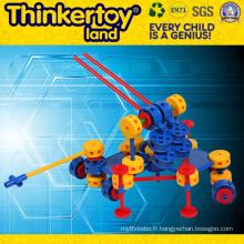 Bâton de plastique en forme de pistolet Modèle Toy Toddler Building Blocks