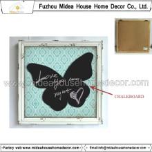 Panneau de bois en forme de papillon en forme de papillon