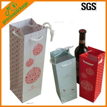 Promotional 1 Bottle Wine Carry Paper Bag