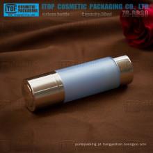 ZB-RB30 30ml devenda clássica 1oz rodada dupla bomba girar camadas airless garrafas de plástico acrílico cosméticos