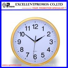 Gold Frame Logo impressão rodada de plástico Wall Clock (Item21)