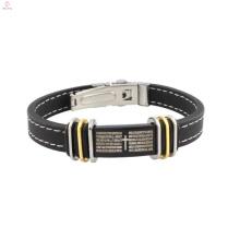 2018 нержавеющей стали 316L ювелирные изделия, серебряные ювелирные изделия кожаный браслет