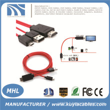 MHL Micro USB vers HDMI TV Adaptateur de câble AV HDTV pour SAMSUNG Galaxy S2