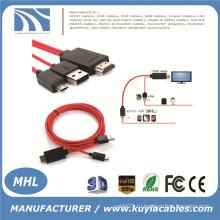 MHL Micro USB для HDMI TV AV-кабель Адаптер HDTV для SAMSUNG Galaxy S2
