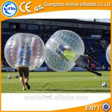 Bolas de burbujas de aire para el fútbol, pelota de burbuja de fútbol de tamaño humano