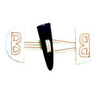 Botão de couro de boa qualidade para acessórios (HJB09)