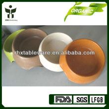 Tigela de cão de fibra de bambu biodegradável