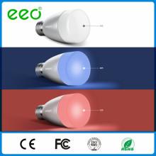 Smart Bluetooth Phone Apps Lâmpada LED com alto-falante, RGB Speaker Lâmpada LED inteligente Iluminação