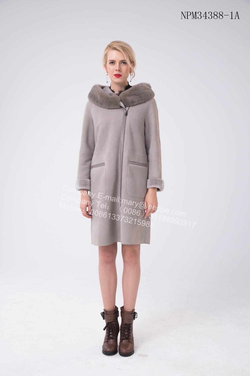 Women Bias Zipper Coat