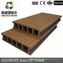 Gswpc переработанная экологически чистая доска / экологически чистая wpc / decking Полая и сплошная wpc