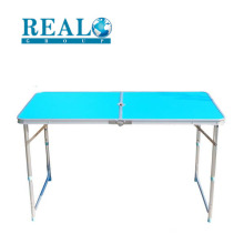Melhor venda durável alumínio ajustável altura dobrável mesa de camping