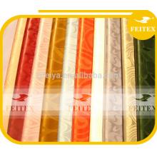 Vente en gros de textile tissé africain de tissu de brocart de la Guinée de polyester pour la robe laïque