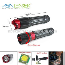 3 AAA or 18650 Battery Powered 3 Lighting Modes Aluminum Cree XPE LED The Flashlight
