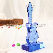 Синий Кристалл гитара музыкальный инструмент для домашнего украшения & подарки Co-M003