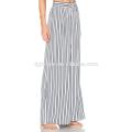 Pantalones anchos flojos ocasionales elegantes de la pierna de la gasa de las rayas para las señoras