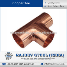 High Quality Best Fitting and Joints Copper Tee Available in Various Sizes