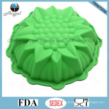 """Holiday Tamanho Médio 3D Flor Silicone Muffin Baking Pan Sc55 (9 """")"""