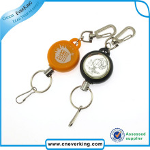 Customized Design Sample Free Metal Retractable Keychain