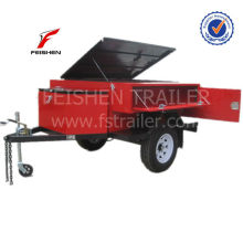 Red painting roof tent camper trailer OF2 customized trailer