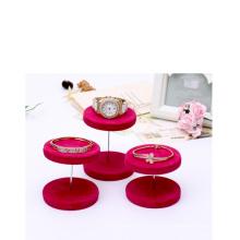 Brazalete cilíndrico rojo de la joyería / soporte de exhibición de la pulsera al por mayor (DST-PV-V1)