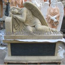 Marmor Granit Engel Statue für Friedhof Grabstein Denkmal Grabstein (SY-C1192)